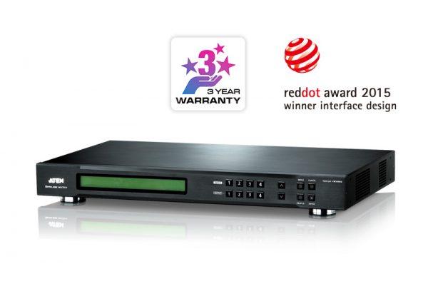 VM5404D-4x4 DVI Matrix Switch tích hợp bộ ghép màn hình Videowall 1