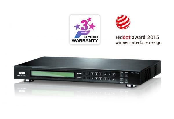 VM5808D-4x4 DVI Matrix Switch tích hợp bộ ghép màn hình Videowall 2